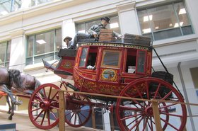 Stagecoach exhibit National Postal Museum