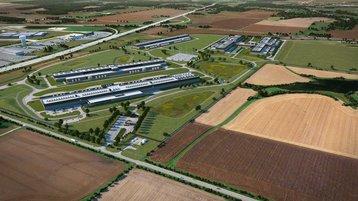 Facebook data center campus in Altoona - 3D render