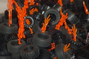 Lego Tire Fire