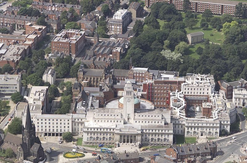 The University of Leeds campus. Image courtesy of the Creative Commons