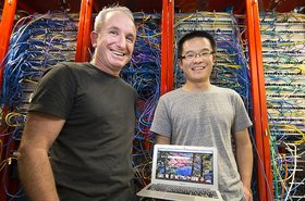 Professor Steve Blackburn and PhD student Xi Yang