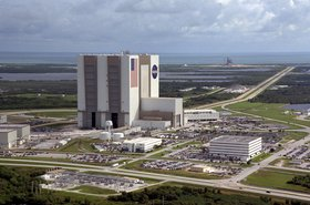 Aerial view of the Kennedy Space Center (1999)