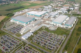 Aerial photograph of GlobalFoundries Dresden