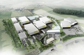Aerial view of the Pentland Studios project