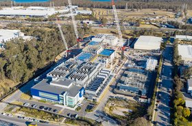 A recent aerial photo of AirTrunk Sydney