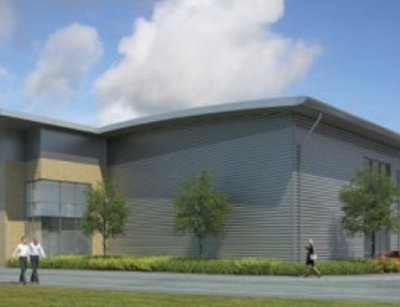 A rendering of Gyron's Ajax data center. Gyron is now majority owned by NTT