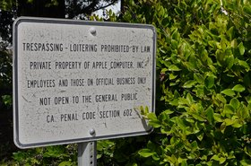 Apple no trespassing