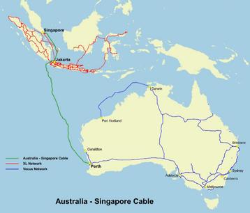 Australia Singapore Cable route