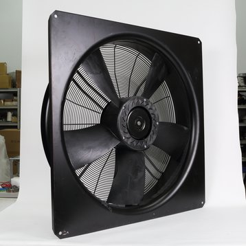 Axial fan with mounting frame