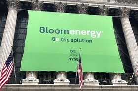 Bloom Energy banner on NYSE