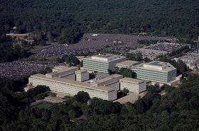 Aerial view of the CIA HQ, Virginia