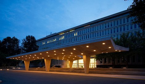 The CIA's original headquarters building outside of Washington, D.C.