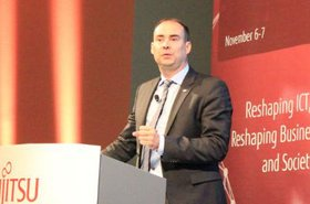 Fujitsu's Cameron McNaught at the Fujitsu Forum in Munich