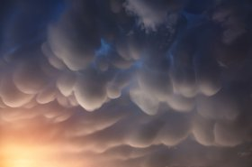 Mammatus clouds in the Nepal Himalayas