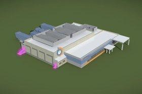 A single-pod Compass data center (rendering)