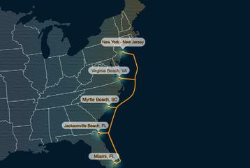 Confluence networks eastern seaboard subsea fiber network
