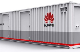 Huawei's containerised data center shown at IDC
