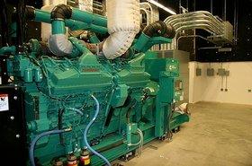 A Cummins diesel generator