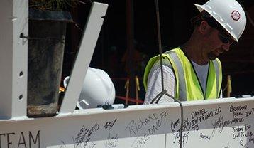 On the construction site for CyrusOne's Chandler, Arizona, data center