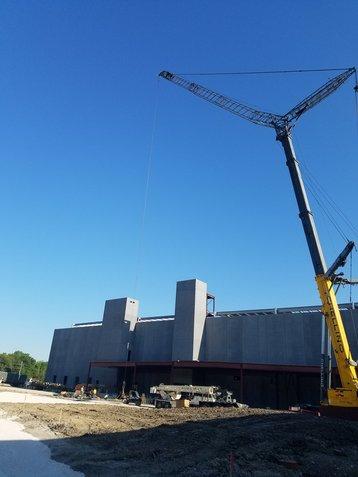 CyrusOne's Aurora data center campus in Chicago mid-construction