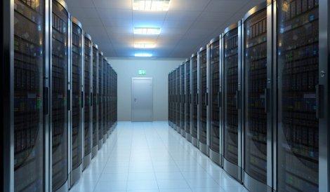 Data center aisle stock Getty