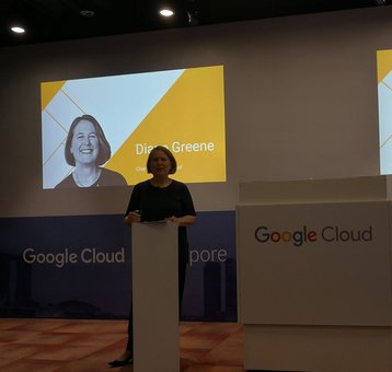 Diane Greene, SVP of Google Cloud in Singapore