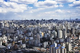Aerial view of Sao Paolo city