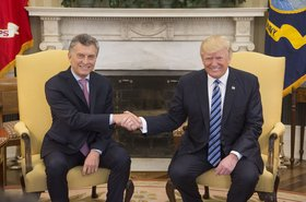 Presidents Donald Trump and Mauricio Macri in The Oval Office