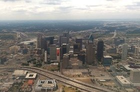 Arial view of Downtown Dallas
