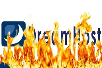 dreamhost logo burning