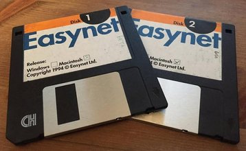 Easynet floppy discs, 1994