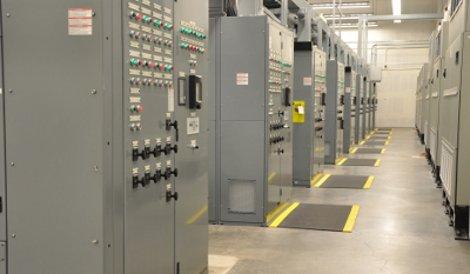 Electrical gear at a RagingWire data center Sacramento