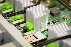 HPE The Machine electronic circuit board close up