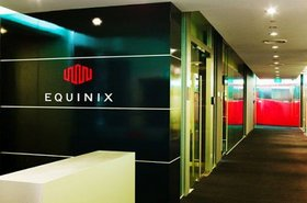 The interior of an Equinix data center