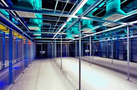 Colocation floor at an Equinix data center