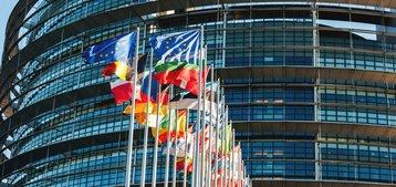 european union flags brussels eu