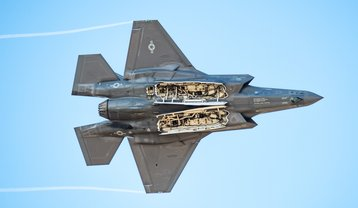 F-35A with weapon bay doors open