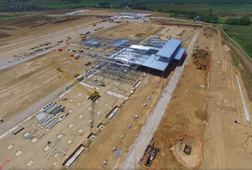 Facebook's Papillion data center being built