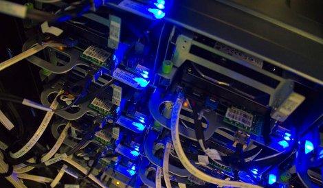 Servers deployed at a Facebook data center
