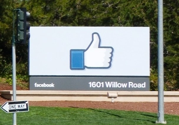 Facebook's headquarters in Menlo Park. Image courtesy of the Creative Commons.
