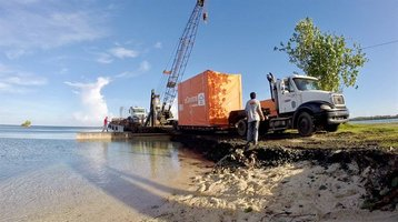 Flexenclosure cable landing station arriving in Palau