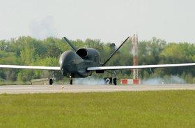 RQ4 Global Hawk lands at Grand forks