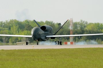 RQ4 Global Hawk lands at Grand forks