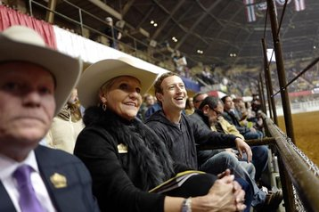 Fort Worth Mayor Betsy Price and Mark Zuckerberg