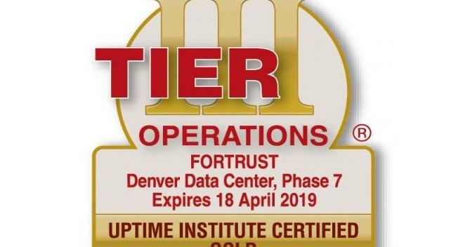 Fortrust Gets Tier Iii Gold Certification In Denver Dcd