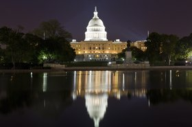 The United States Capitol Building at night, Washington DC
