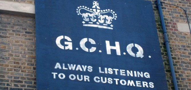 GCHQ - unofficial poster in London