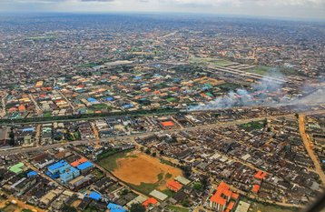 Aerial view of Lagos, Nigeria
