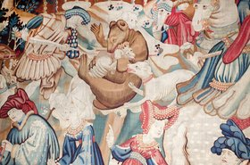 One of the many tapestries adorning the walls of the V&A Museum, London