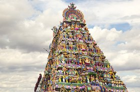 Ancient temple of Shiva, Kapaleeswarar, Chennai, India